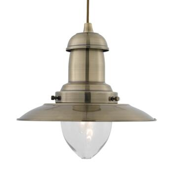 Fisherman Ceiling Light - Pendant Light 4301AB - Antique Brass
