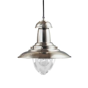 Fisherman Industrial Pendant Light - Satin Silver