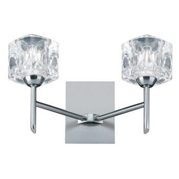 Ice Cube Halogen Wall Light - Satin Silver 4342-2 - 2 Light Satin Silver