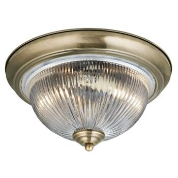 Flush Ceiling Light - 2 Light Flush 4370 - Antique Brass