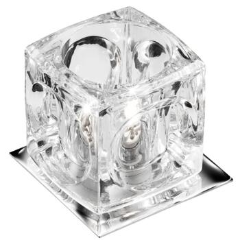 Halogen Downlight - Clear Ice Cube Glass 5159CC - Chrome Finish
