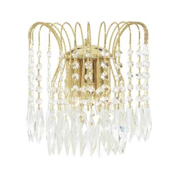 Waterfall Crystal Wall Light - 2 Light 5172-2 - Gold Plated