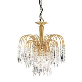 Waterfall Crystal Ceiling Light - 3 Light 5173-3 - Gold Plated