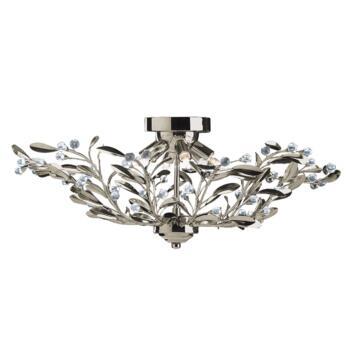 Lima Ceiling Light - 6 Light Semi-Flush 5256-6AB - Antique Brass