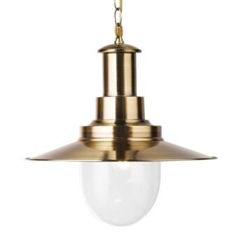 Fisherman XL Ceiling Light - Single Pendant 5301AB - Antique Brass Finish