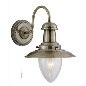 Fisherman Wall Light - Single Light 5331-1AB - Antique Brass