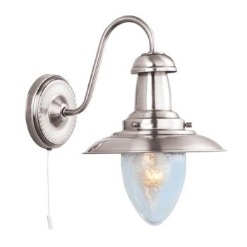Fisherman Wall Light - Single Light 5331-1SS - Satin Silver