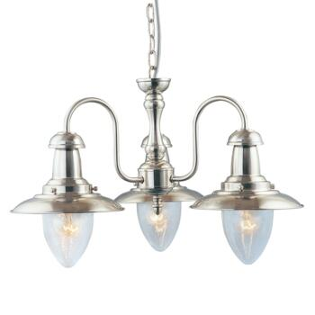 Fisherman Ceiling Light - 3 Light 5333-3SS - Satin Silver