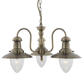 Fisherman Ceiling Light - 3 Light 5333-3AB - Antique Brass