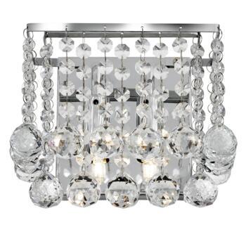 Hanna Square Wall Light - 2 Light 5402-2CC - Chrome