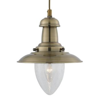 Fisherman Ceiling Light - Pendant Light 5787AB - Antique Brass