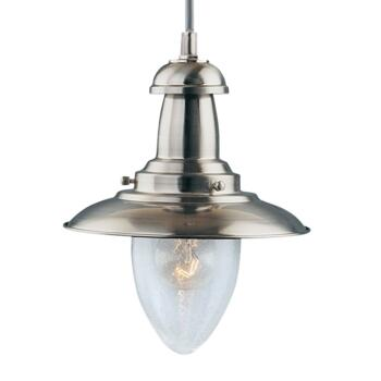 Fisherman Ceiling Light - Pendant Light 5787SS - Satin Silver