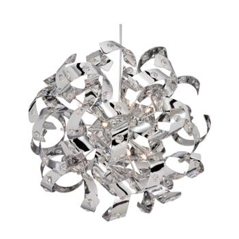 Curls Halogen Ceiling Light - 6 Light 5816-6CC - Chrome Finish
