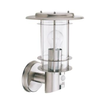 Outdoor Wall Light with Motion Sensor - 60W 6211 - Stainless Steel Finish