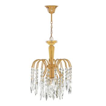 Waterfall Crystal Ceiling Light - Pendant 6271-1 - Gold Plated