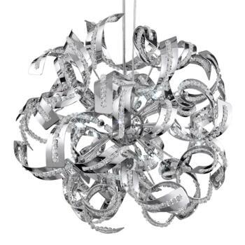 Sparkles Pendant Ceiling Light - 9 Light 6299-9CC - Chrome Finish