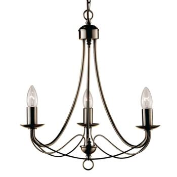 Maypole Ceiling Light - Ant Brass 3 Light 6343-3AB - Antique Brass
