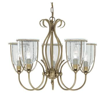 Silhouette Ceiling Light - 5 Light 6355-5AB - Antique Brass