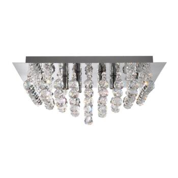 Hanna Ceiling Light - 4 Light Flush 6404-4CC - Chrome Finish