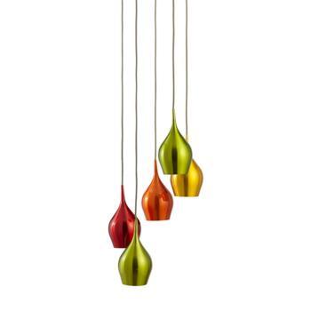 5 Light Pendant Ceiling Light - 6465-5 - Chrome