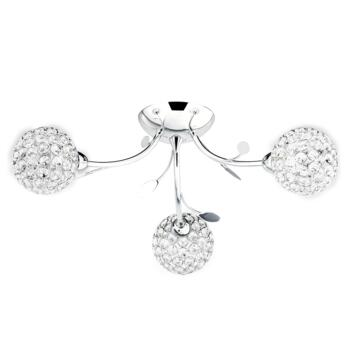 Bellis II Semi-Flush Ceiling Light - 6573-3CC - Chrome Finish