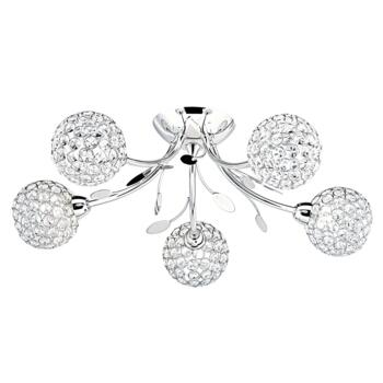 Bellis II Semi-Flush Ceiling Light - 6575-5CC - Chrome Finish