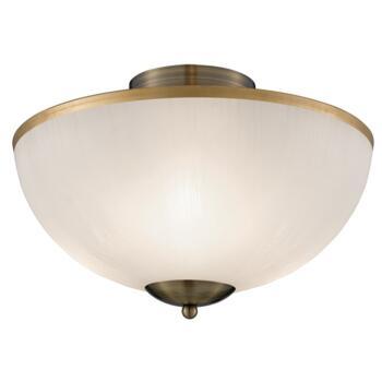 Brahama Flush Ceiling Light - 3 Light 6580AB - Antique Brass