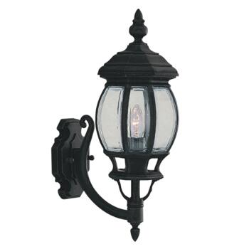 Bel Aire Outdoor Wall Light - Garden Light 7144-1 - Black Cast Aluminium