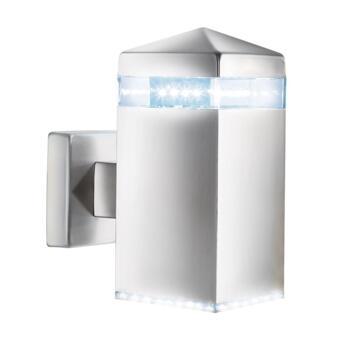 Outdoor LED Wall Light - IP44 Light 7205 - Satin Silver