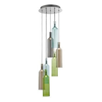7 Light Pendant Ceiling Light - 7257-7 - Chrome