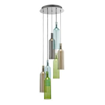 7 Light Pendant Ceiling Light - 7257-7 - Chrome