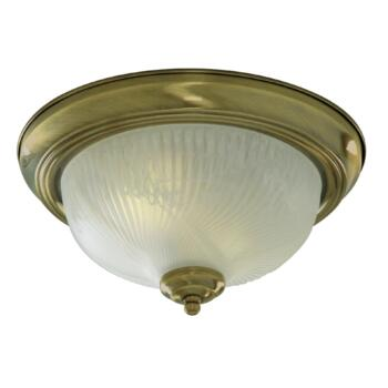 Flush Ceiling Light - Antique Brass 7622-11AB - Glass Diffuser