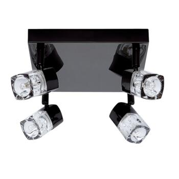 Blocs Spotlight - 4 Light LED Square 7884BC-LED - Black Chrome Warm White LED 3000K