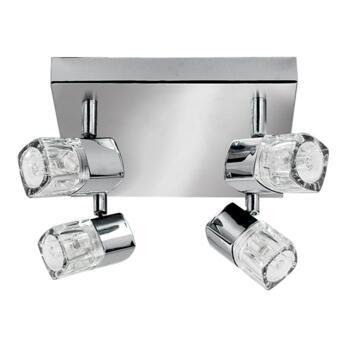 Blocs Spotlight - 4 Light LED Square 7884CC-LED - Chrome Warm White LED 3000K