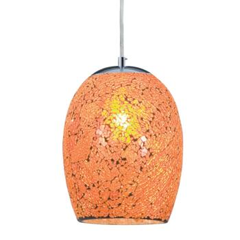 Ariana Pendant Light - Mosaic Glass - Orange Glass