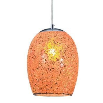 Ariana Pendant Light - Mosaic Glass - Orange Glass