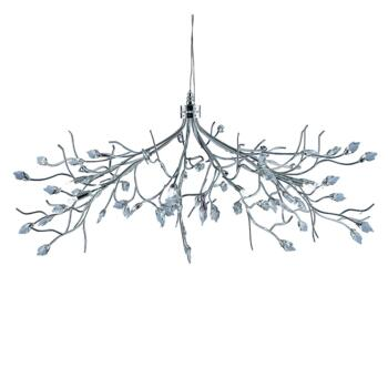Willow Ceiling Light - Chrome 10 Light 8110-10CC - Chrome Finish