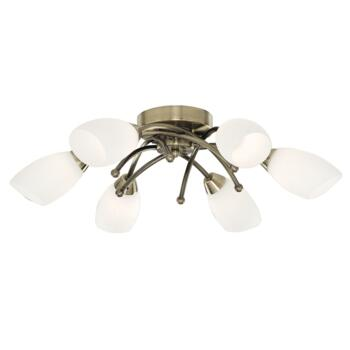 Opera Ceiling Light - 6 Light Halogen 8186-6AB **out of stock till 5/3/21** - Antique Brass