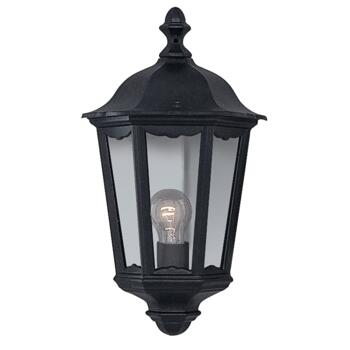 Alex Outdoor Wall Light - Garden Light 82505BK - Black Cast Aluminium