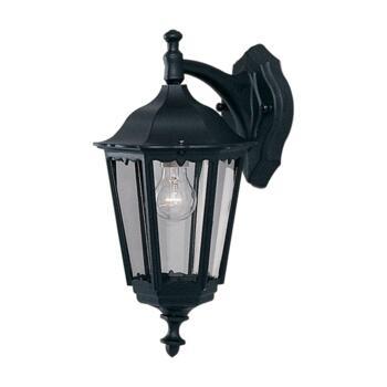 Alex Outdoor Wall Light - Garden Downlight 82531BK - Black Cast Aluminium