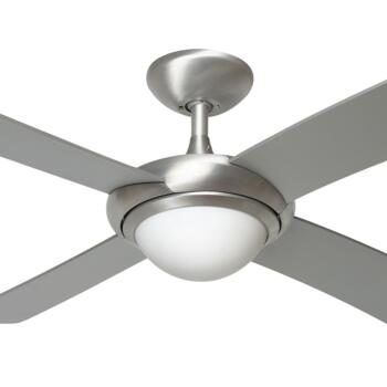 "Fantasia Orion Ceiling Fan with Light -B/Aluminium - 44"" (1120mm) With Remote Control"