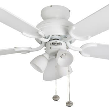 "Fantasia Amalfi Ceiling Fan Light - White - 36"" (910mm)"