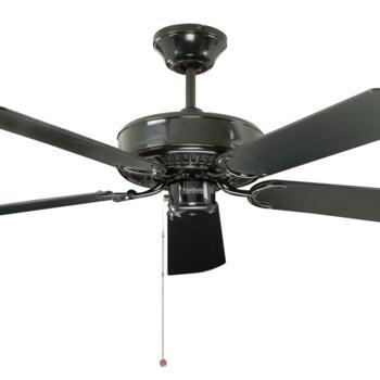 "Fantasia Classic Ceiling Fan - Black - 52"" (1320mm)"