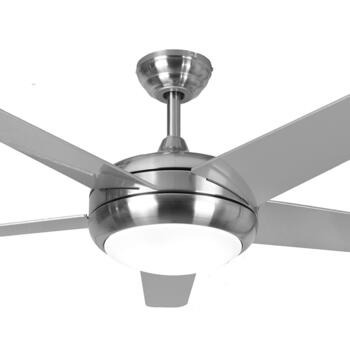 "Global Neptune Ceiling Fan with Light - S/Steel - 52"" (1320mm)"