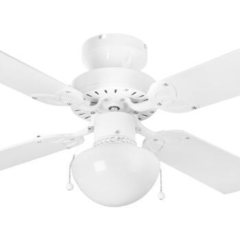 "Global Rimini Ceiling Fan with Light - White - 36"" (910mm)"