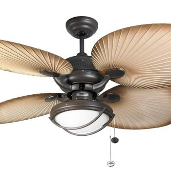 """Fantasia Palm Ceiling Fan - Chocolate Brown - 52"""" (1320mm) With Lights"""