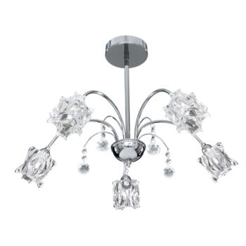 Fabia Frost Ceiling Light - 5 Light 8525-5CC - Chrome