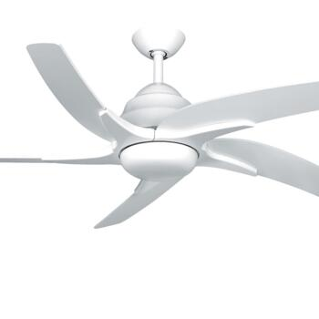 "Fantasia Viper Plus 54"" Ceiling Fan - White - With 2 x 60W G9 Halogen"