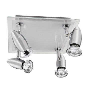 Saturn Spotlight - 4 Light Halogen Square 8764CC - Chrome Finish