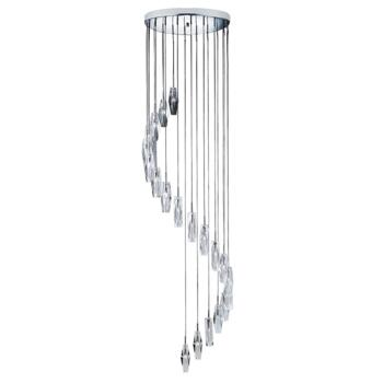 Sculptured Ice Ceiling Light - Chrome 888-20 - 20 Light Chrome Finish